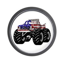 AMERICAN MONSTER TRUCK Wall Clock