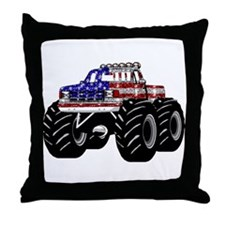 AMERICAN MONSTER TRUCK Throw Pillow