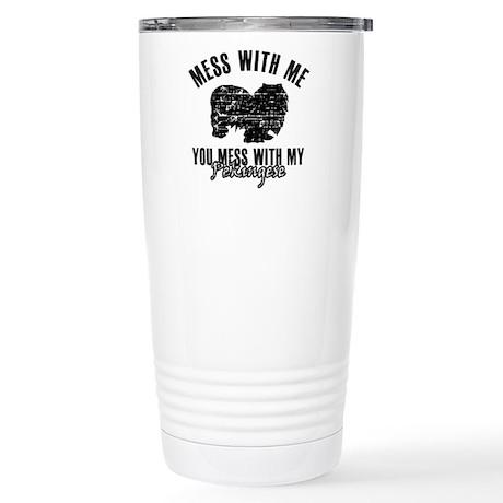 Pekingese Dog design Stainless Steel Travel Mug