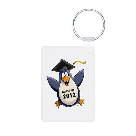 2012 Graduate Penguin Aluminum Photo Keychain