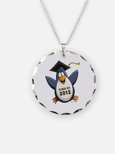 2012 Graduate Penguin Necklace Circle Charm