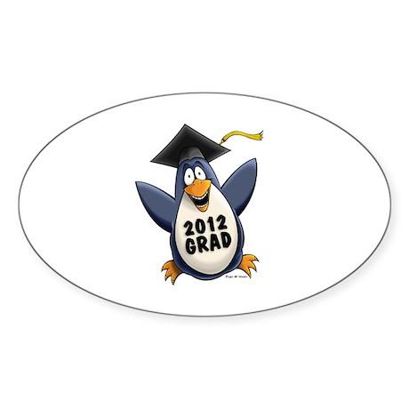 2012 Graduate Penguin Sticker (Oval)