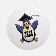 2012 Graduate Penguin Ornament (Round)