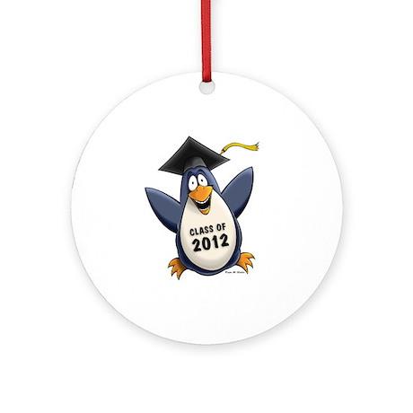2012 Graduate Penguin Ornament (Round)