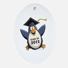 2012 Graduate Penguin Ornament (Oval)