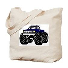 Blue MONSTER Truck Tote Bag
