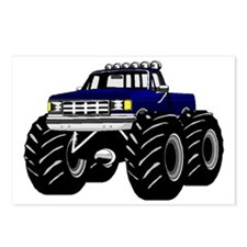 Blue MONSTER Truck Postcards (Package of 8)