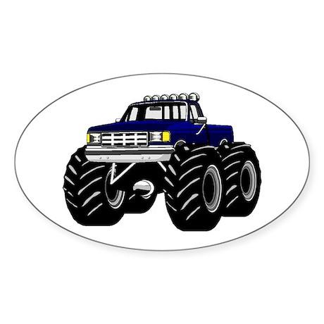 Blue MONSTER Truck Sticker (Oval)
