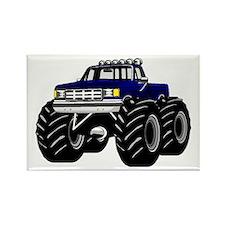 Blue MONSTER Truck Rectangle Magnet