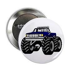 """Blue MONSTER Truck 2.25"""" Button"""