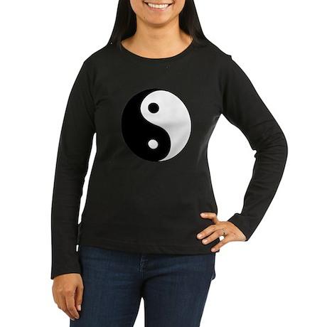 YinYang Women's Long Sleeve Dark T-Shirt
