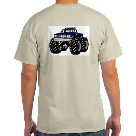 Blue MONSTER Truck Light T-Shirt