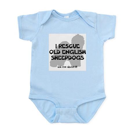 I RESCUE Old English Sheepdogs Infant Bodysuit