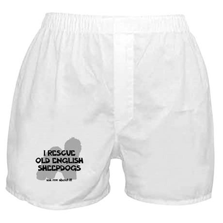 I RESCUE Old English Sheepdogs Boxer Shorts