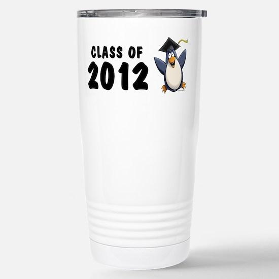 2012 Graduate Penguin Stainless Steel Travel Mug