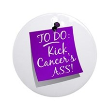 To Do 1 Pancreatic Cancer Ornament (Round)