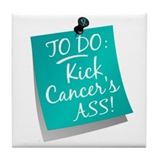 To Do 1 Ovarian Cancer Tile Coaster
