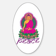 Buddha Peace Sticker (Oval)
