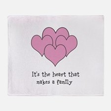 many hearts Throw Blanket