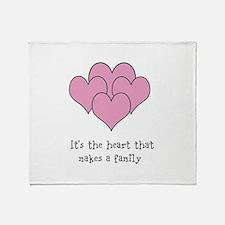 many hearts Throw Blanket