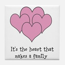 many hearts Tile Coaster