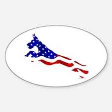 Great Dane Jumper Flag Decal