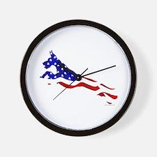 Great Dane Jumper Flag Wall Clock