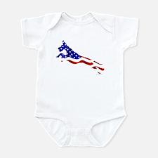 Great Dane Jumper Flag Infant Bodysuit