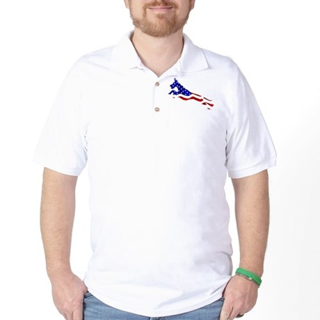 Great Dane Jumper Flag Golf Shirt
