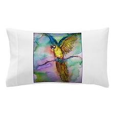 Macaw, blue, gold parrot! Pillow Case