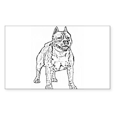 Pitbull Sticker (Rectangle)