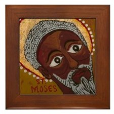 Saint Moses The Black Framed Tile