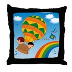 On Balloon Throw Pillow
