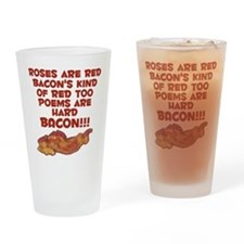 Bacon Poem Drinking Glass