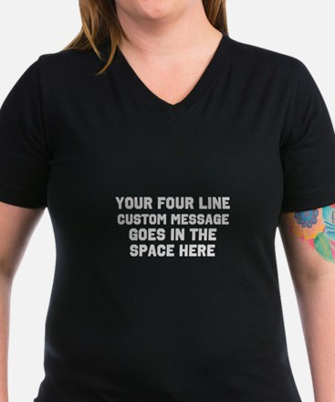 Customize Four Line Te Shirt