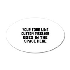 Customize Four Line Text Wall Sticker