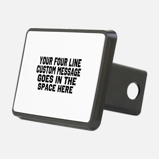 Customize Four Line Text Hitch Cover