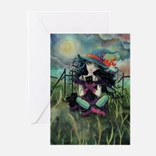 Kitten Witch Halloween Greeting Cards (Pk of 10)