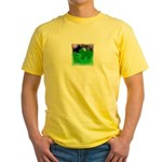 HAPPY FOURTH OF JULY (FROG LOOK) Yellow T-Shirt