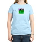 HAPPY FOURTH OF JULY (FROG LOOK) Women's Pink T-Sh