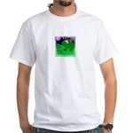HAPPY FOURTH OF JULY (FROG LOOK) White T-Shirt