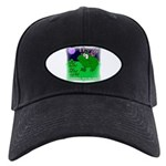 HAPPY FOURTH OF JULY (FROG LOOK) Black Cap
