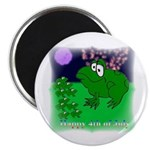 HAPPY FOURTH OF JULY (FROG LOOK) Magnet