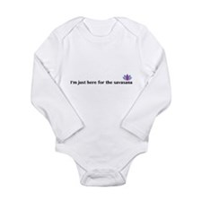 savasana Long Sleeve Infant Bodysuit