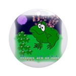HAPPY FOURTH OF JULY (FROG LOOK) Ornament (Round)
