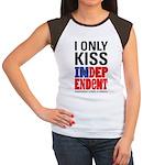 IVA Women's Cap Sleeve Kiss T-Shirt