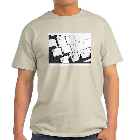 Computer Keys Geek Art Light T-Shirt