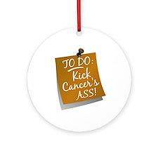 To Do 1 Appendix Cancer Ornament (Round)