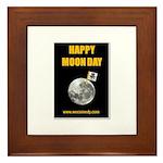 Happy Moon Day Framed Tile
