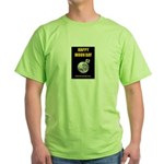 Happy Moon Day Green T-Shirt